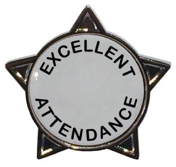 EXCELLENT ATTENDANCE star badge